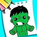 Superhero Glitter Coloring Book icon