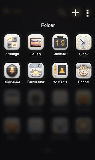 D Light Go Launcher Theme Screenshot