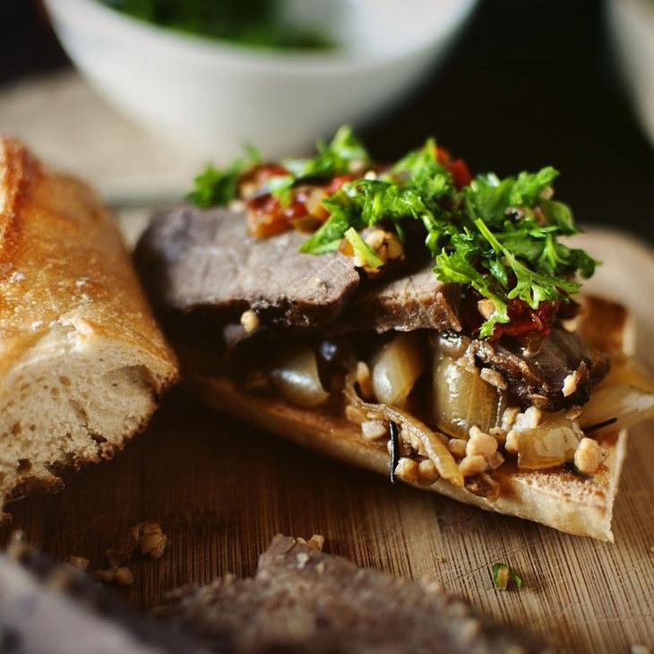 Slow Cooker Garlic Braised Brisket
