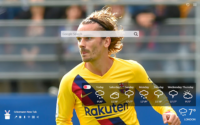 Griezmann New Tab, Wallpapers HD
