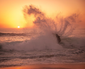 Photo: I love watching waves exploding off rocks in the ocean... man, I just never get tired of it! :)