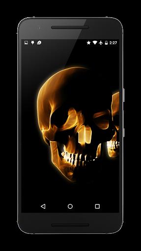 Skulls 3D Live Wallpaper