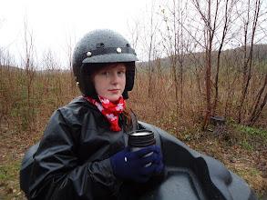 Photo: Sat, May 14/11 SBC ATV Day - Mariah enjoys a warm drink
