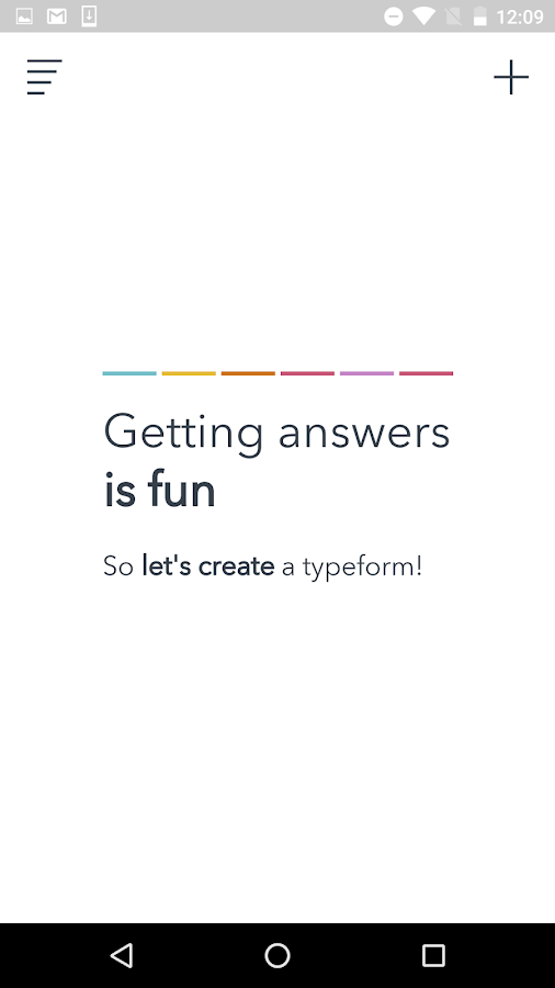 Typeform LITE: beautiful forms- screenshot