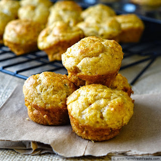 Herbed Butternut Squash and Cottage Cheese Muffins.