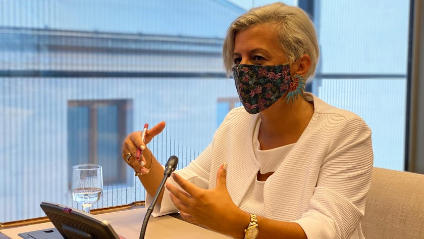 La diputada nacional por el PSOE de Almería, Sonia Ferrer Tesoro.