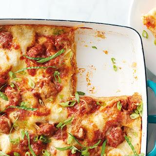 Ginger Pork Wonton Lasagna.