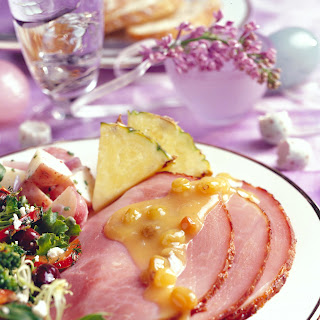 Glazed Ham with Pineapple-Raisin Sauce Recipe
