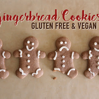 Gluten Free & Vegan Gingerbread Cookie.