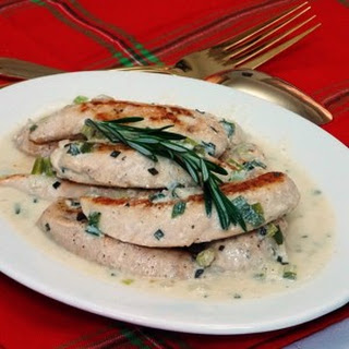Chicken with Rosemary Sauce.