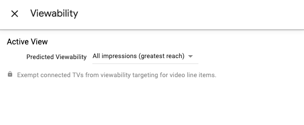 Viewability targeting