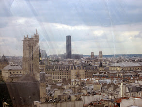 Photo: View of Paris from top of the Pompidou Center