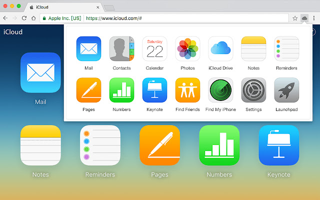 Launchpad for iCloud