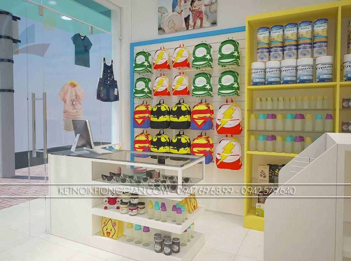 thiết kế siêu thị mẹ và bé đẳng cấp
