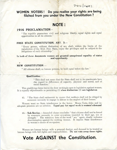 Flyer protesting against the 1937 Constitution