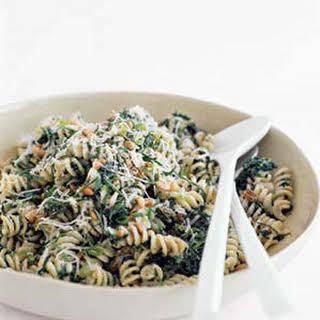 Fusilli With Spinach, Ricotta, and Raisins.