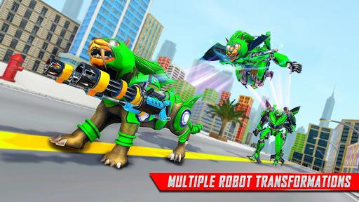 Lion Robot Car Transforming Games: Robot Shooting 1.4 screenshots 10