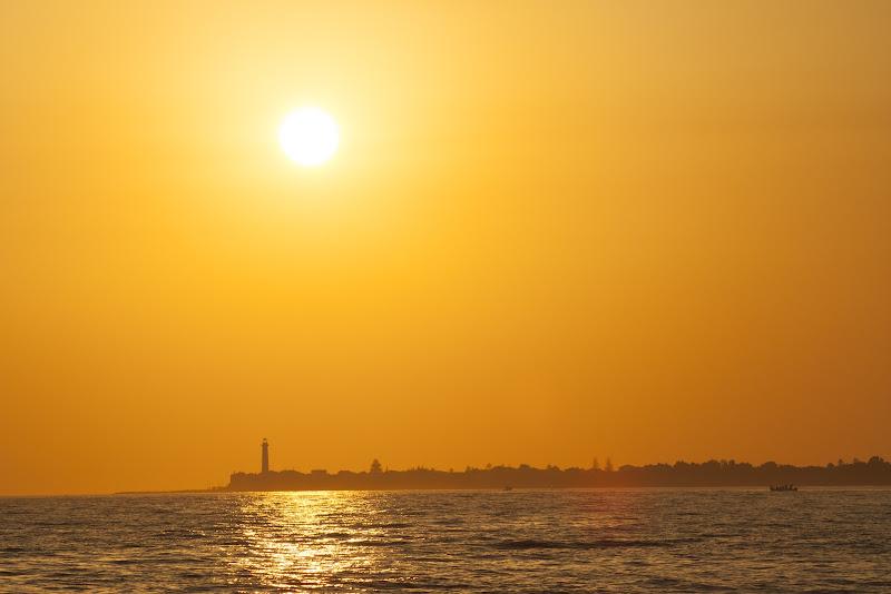 il faro al tramonto di Titta