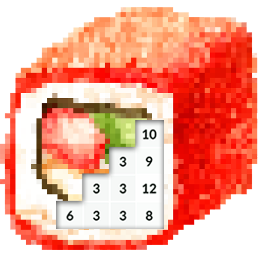 Download Color By Number: Sushi Pixel Art App For Android