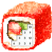 Color By Number: Sushi Pixel Art