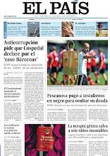 Photo: Anticorrupción pide que Cospedal declare por el 'caso Bárcenas'; Guardiola explota contra Rosell y Pescanova pagó a testaferros en negro para ocultar su deuda, en la portada de EL PAÍS, edición nacional, del viernes 12 de julio http://cort.as/4fCm