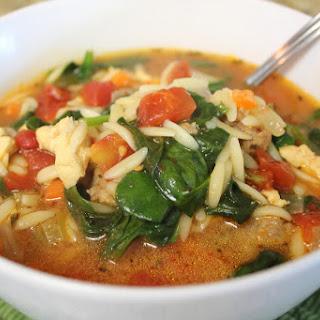 Spinach Tomato Orzo Soup.