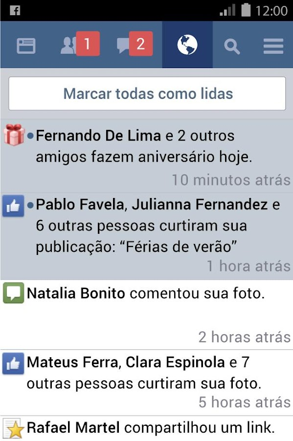 Facebook Lite: captura de tela
