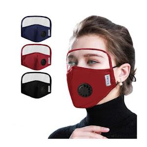 Set 3 x Masca faciala de protectie cu viziera detasabila