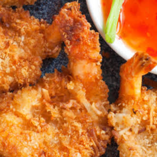 Coconut Shrimp with Sweet Chili Sauce.
