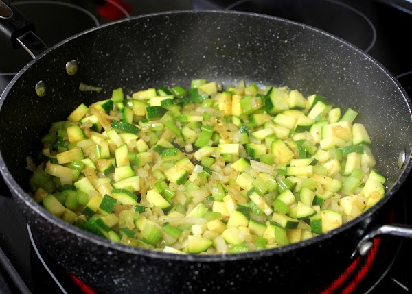 Add butter to pan. Sauté onion, celery, and zucchini about 5 minutes; add poultry...