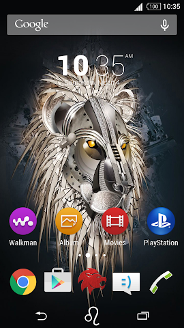 android For Xperia Theme Leo Screenshot 0