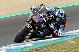 Alex Márquez consigue el mejor tiempo en los test de Jerez