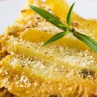 Golden Potato and Tempeh Casserole.