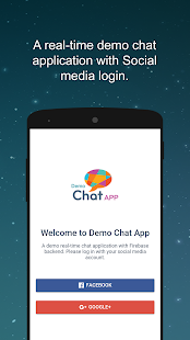 Demo Chat App - náhled