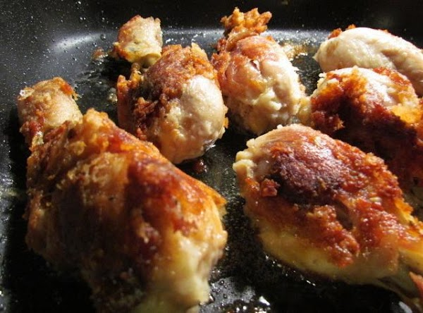 Shake it up and place in your skillet with 3 tablespoons shortening.Cook on medium...
