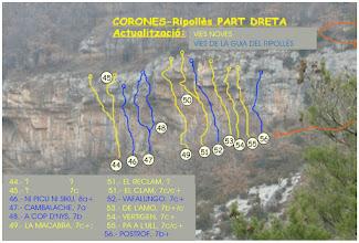 Photo: Girona/Gerona - ROCA ROJA DE CORONAS - Part Dreta Act