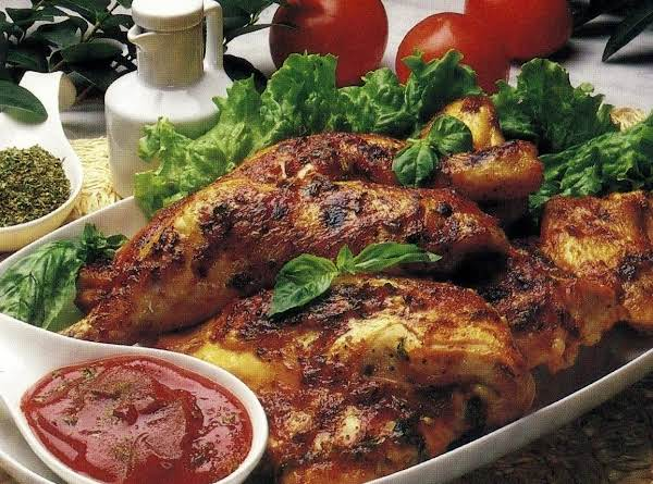 Herb -tomato Grilled Chicken (microwave Version)