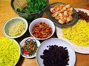 Photo: ingredients for salted black olive fried rice