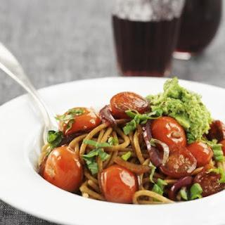 Pea Pesto with Wholegrain Spaghetti