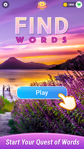 Find Words–Moving Crossword Puzzle, Happiness&Fun - screenshot