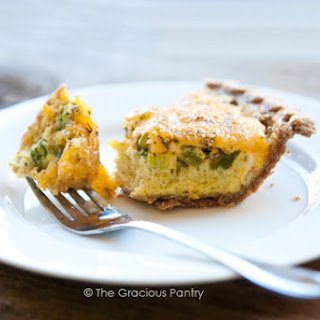 Clean Eating Cheddar Asparagus Quiche