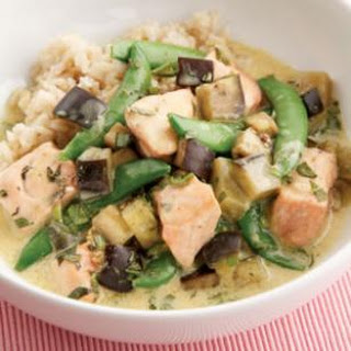 Salmon & Eggplant Curry.