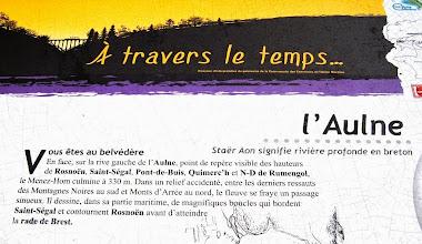 "Photo: BRETANYA 2013. Mirador al riu Aulne "" belvedère de Rosnöen""."
