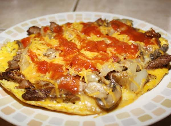 Western Steak Omlette Recipe