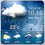 Rainy Weather Widget Icon