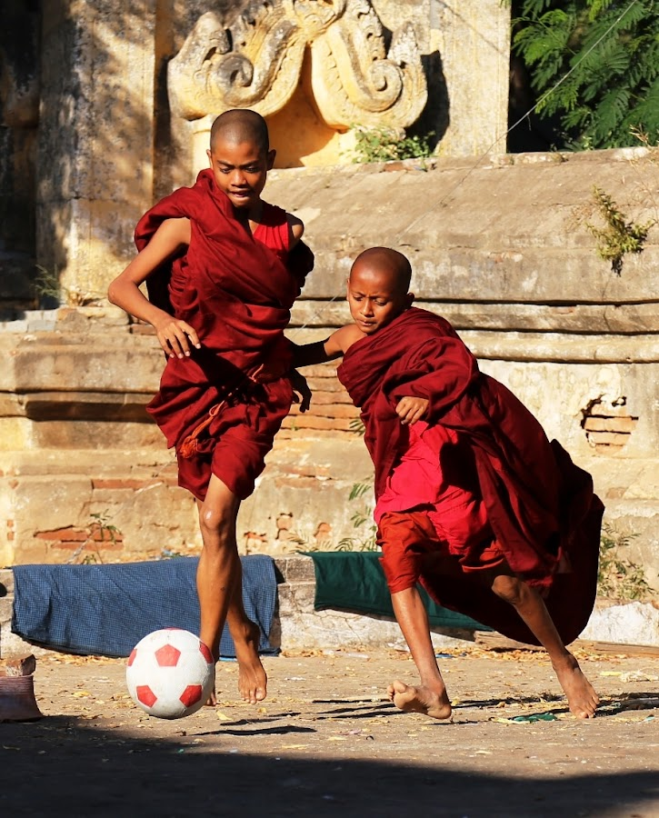 the cup by Suryadi Sulthan - Babies & Children Children Candids ( monk football cerindo bagan myanmar,  )