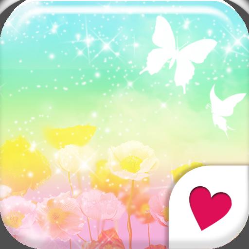 个人化のおしゃれなきせかえ壁紙★七色の空のお花畑 LOGO-記事Game