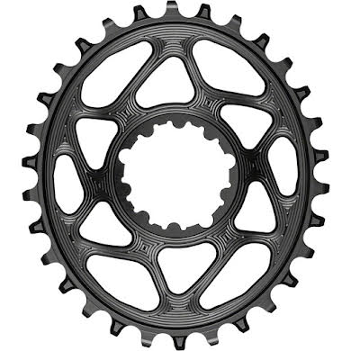 Absolute Black Oval Direct Mount Chainring - SRAM 3-Bolt DM, 3mm Offset, Requires Hyperglide+ Chain