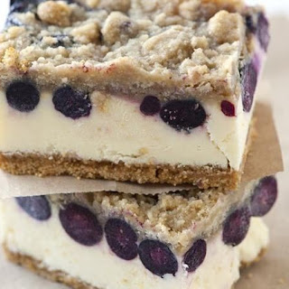Lemon-Blueberry Cheesecake Bars.