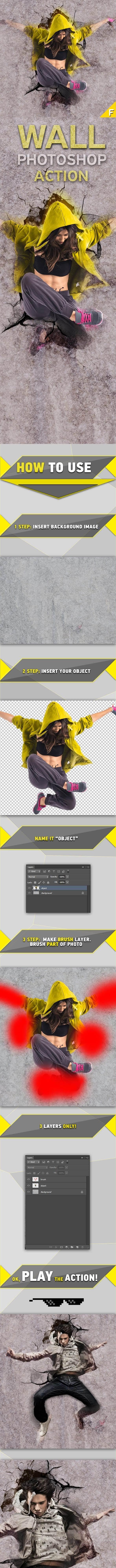 Wall Photoshop Action 16010570 – Sourcepsd com